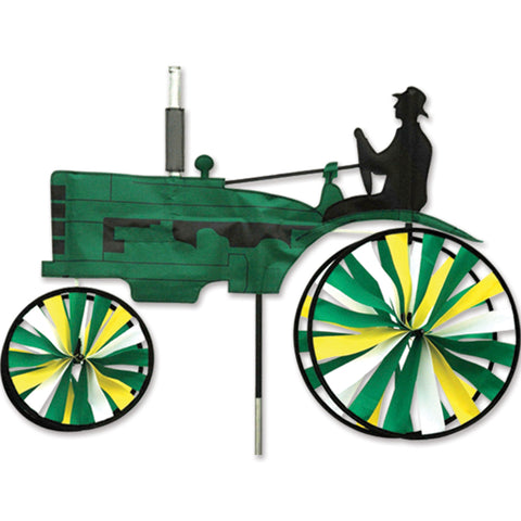 29 in. Old Tractor Spinner - Green