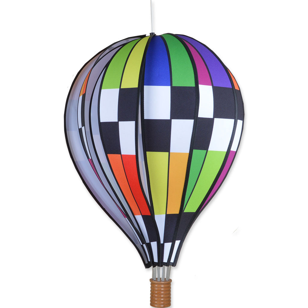 22 in. Hot Air Balloon - Checkered Rainbow