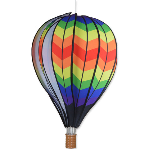 22 in. Hot Air Balloon - Double Chevron Rainbow