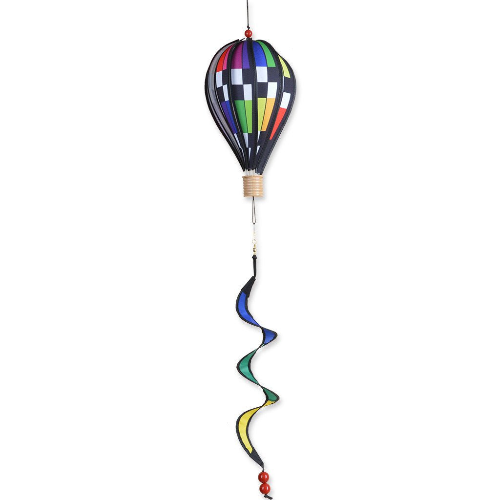 12 in. Hot Air Balloon - Checkered Rainbow