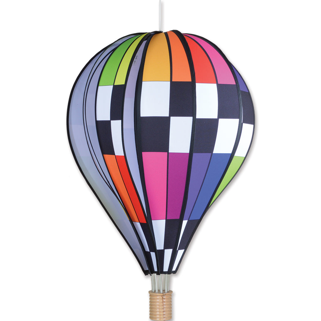 26 in. Hot Air Balloon - Checkered Rainbow