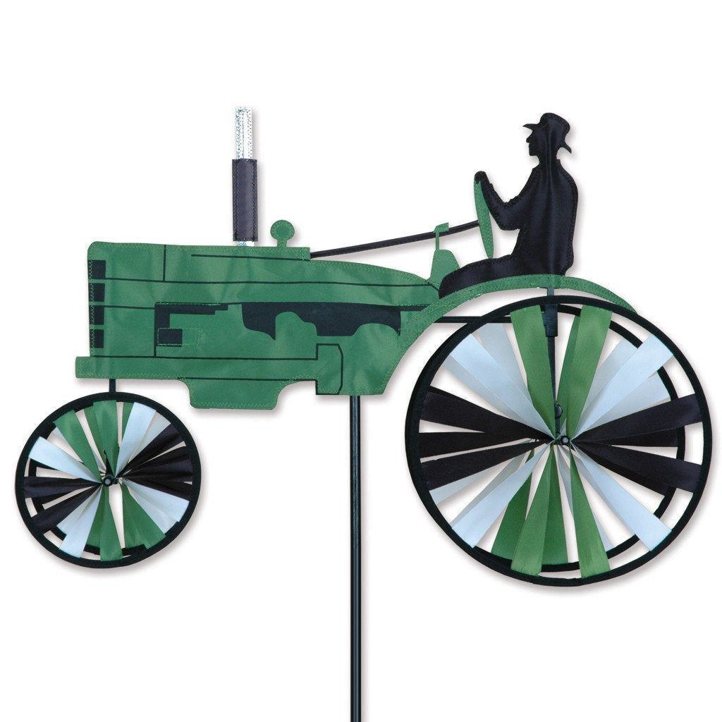 23 in. Old Tractor Spinner - Green