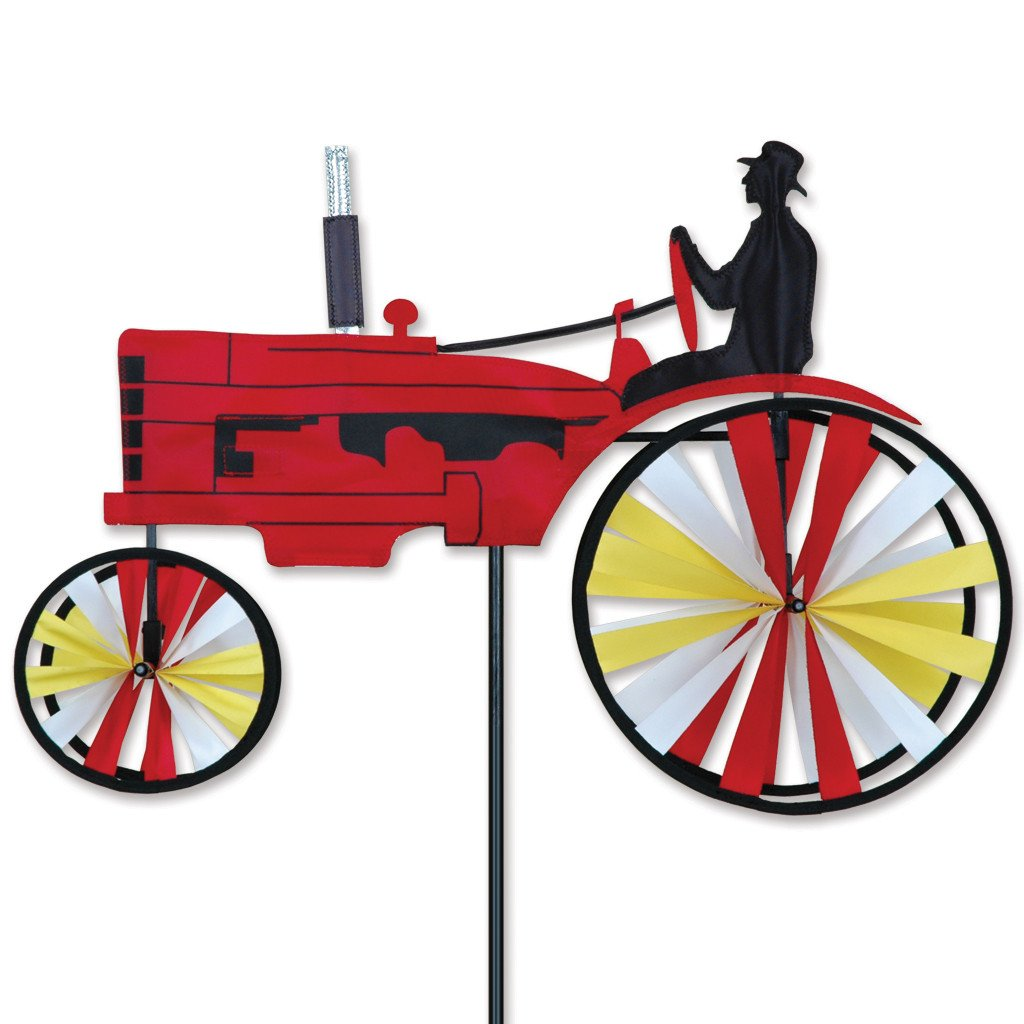 23 in. Old Tractor Spinner - Red