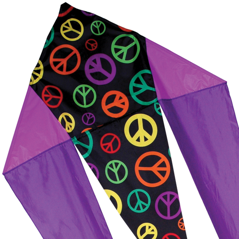 45 in. Flo-tail Kite - Peace Signs