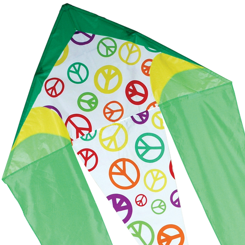 45 in. Flo-tail Kite - Lime Peace