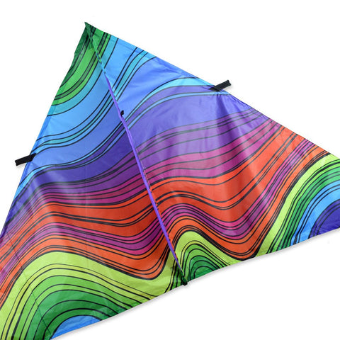 9 ft. Delta Kite - Electromagnetic Rainbow