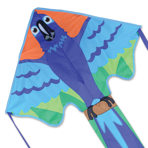 Large Easy Flyer Kite - Blue Macaw
