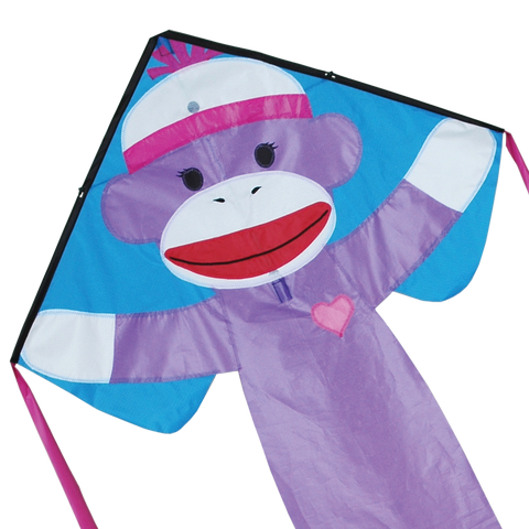 Regular Easy Flyer Kite - Girly Sock Monkey