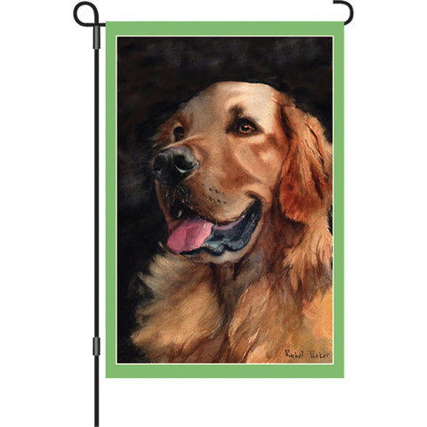 12 in. Golden Retriever Dog Garden Flag - Golden Friend