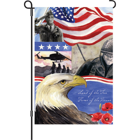 12 in. Patriotic Garden Flag - Home of the Brave