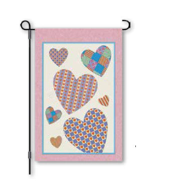 12 in. Valentine's Day Garden Flag - Amore