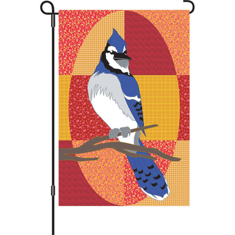 12 in. Bird Garden Flag - Bluejay