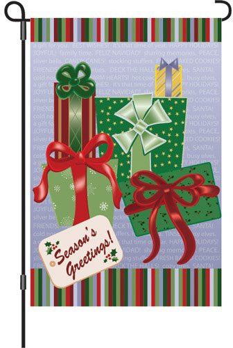 12 in. Christmas Garden Flag - Season's Greetings