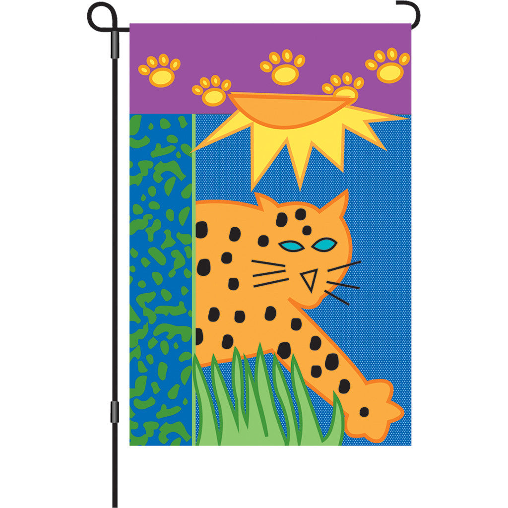 12 in. Leopard Garden Flag - Jungle Animal