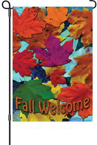 12 in. Autumn Garden Flag - Fall Welcome