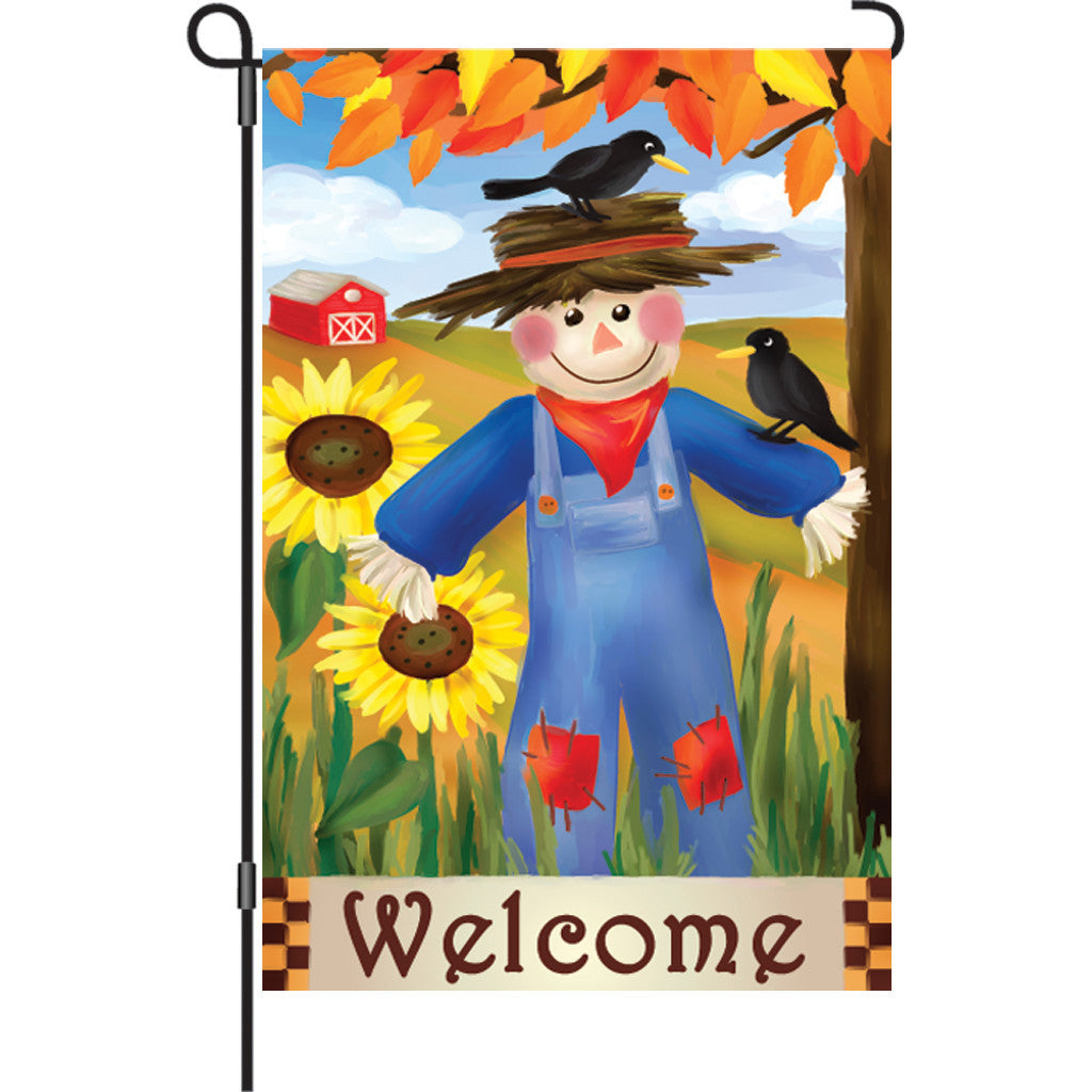 12 in. Thanksgiving Garden Flag - Harvest Scarecrow