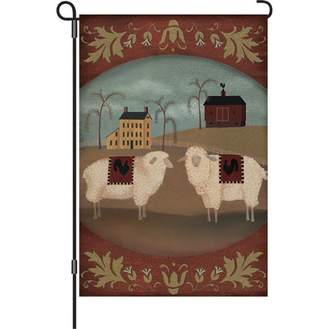 12 in. Country Farm Garden Flag - Country Homestead