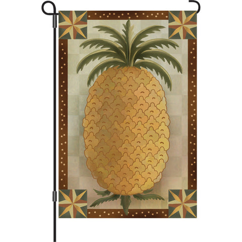Autumn Garden Flag   Primitive Pineapple