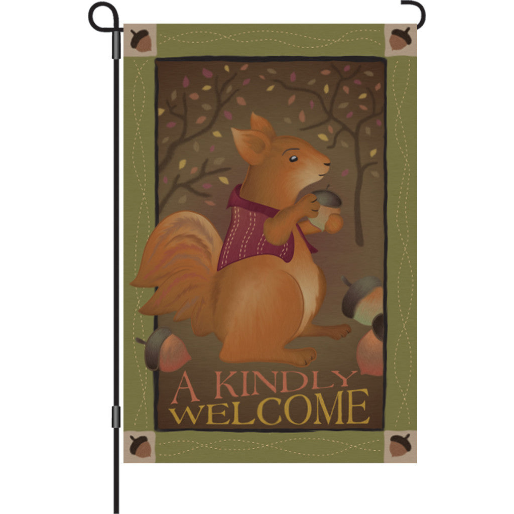 12 in. Garden Flag - A Kindly Welcome