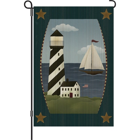 12 in. Antique Lighthouse Garden Flag - Beacon