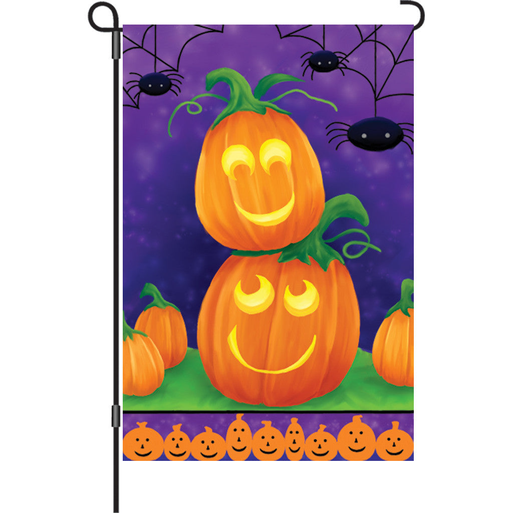 12 in. Halloween Garden Flag - Playful Pumpkins
