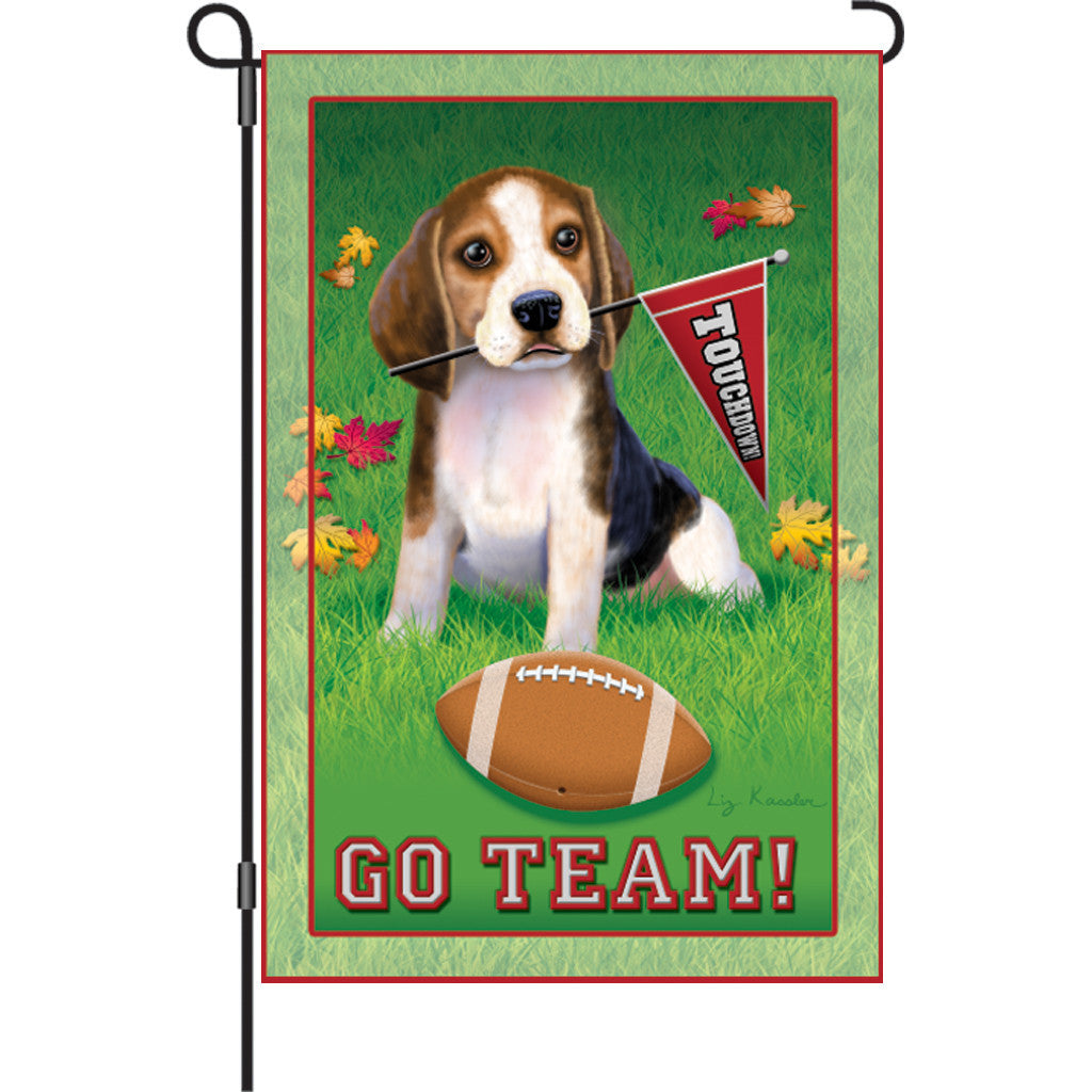 12 in. Baseball Garden Flag - Go Team!
