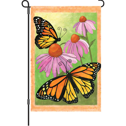 12 in. Butterfly Garden Flag  - Monarch Summer