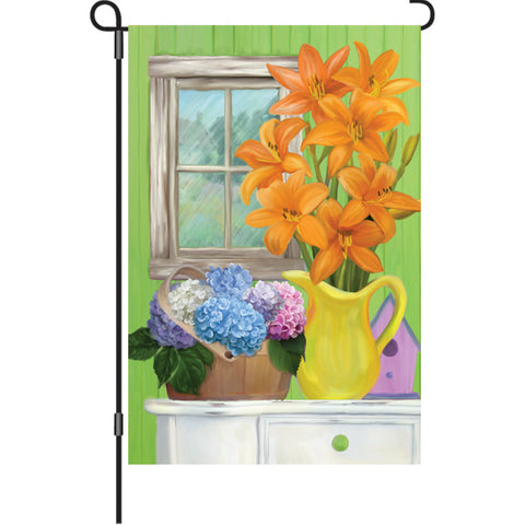 12 in. Summertime Floral Garden Flag  - Summer Flowers