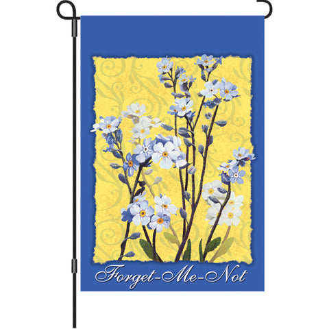 12 in. Forget Me Not Flowers Garden Flag  - Alaska Wild Flowers
