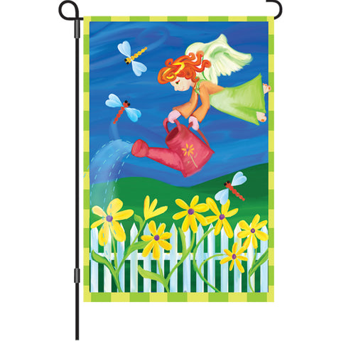 12 in. Summertime Floral Garden Flag  - Garden Angel