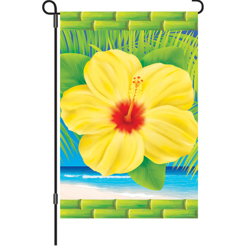 12 in. Hawaiian Beach Garden Flag  - Tropical Hibiscus