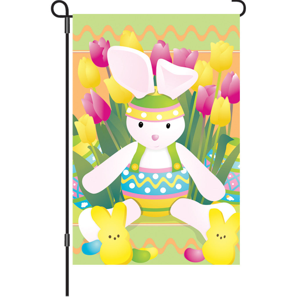12 in. Easter Garden Flag  - Springtime Bunny