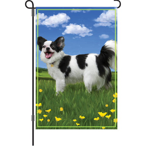 12 in. Dog Garden Flag - Panda the Chihuahua