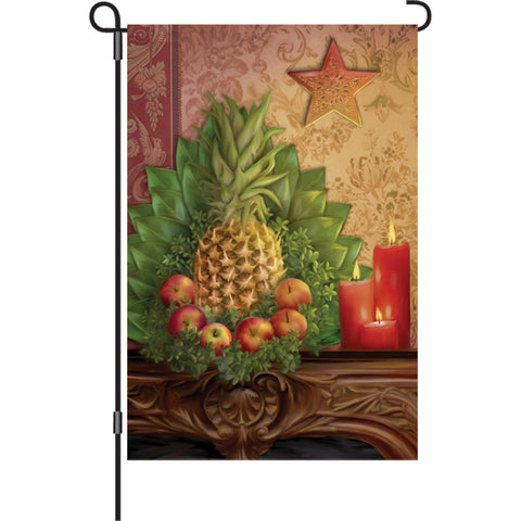 Autumn Garden Flag   Traditional Pineapple