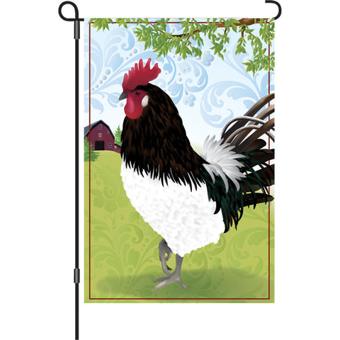 12 in. Country Farm Garden Flag - Barnyard Rooster