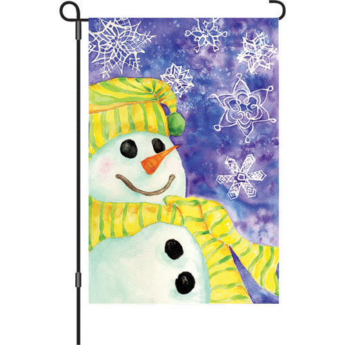 12 in. Winter Holiday Garden Flag - Snow Flake Gazing
