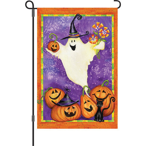 12 in. Halloween Garden Flag - Ghostly Gifts