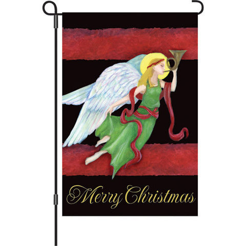 12 in. Christmas Garden Flag - Yuletide Angel