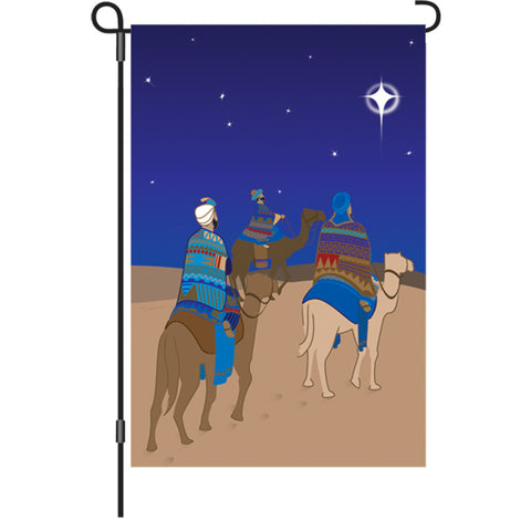 12 in. Christmas Garden Flag - Three Wisemen