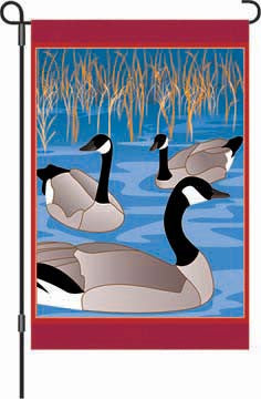 12 in. Canada Geese Garden Flag - Crisfield Visitors