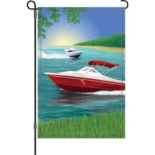 12 in. Pleasure Boating Garden Flag - Changes in Latitude