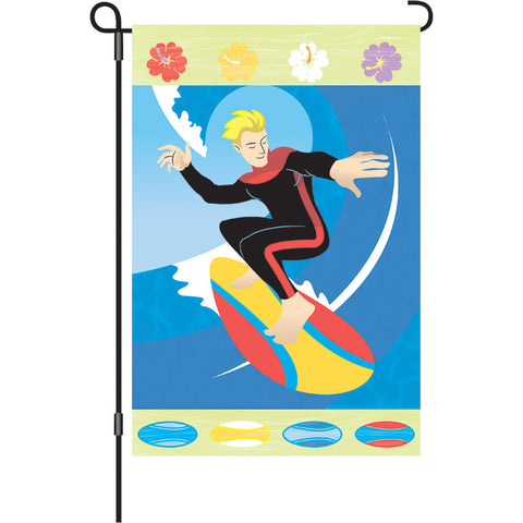 12 in. Tropical Hawaiian Garden Flag - Sunshine Surfer