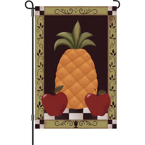12 in. Country Garden Flag - Colonial Pineapple
