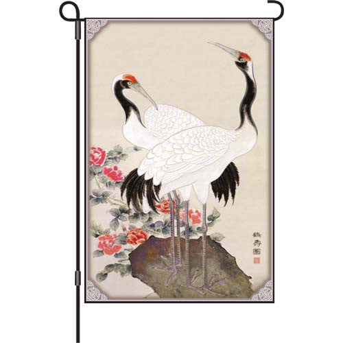 12 in. Asian Garden Flag - Longevity