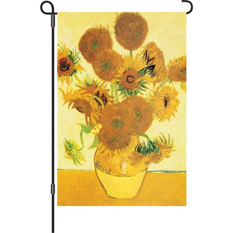 12 in. Artist's Painting Garden Flag - Van Gogh's Sunflowers