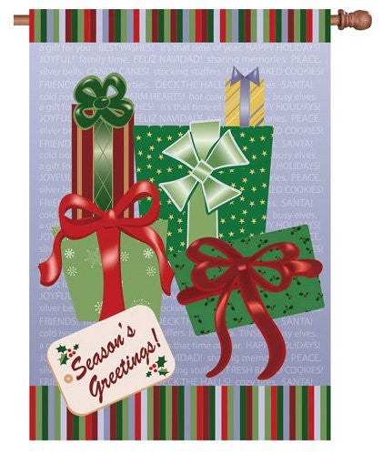 28 in. Christmas House Flag - Season's Greetings