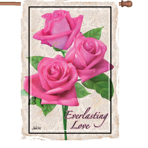 28 in. Valentine's Day House Flag  - Everlasting Love
