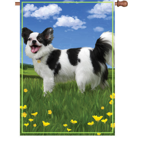 28 in. Dog House Flag - Panda the Chihuahua