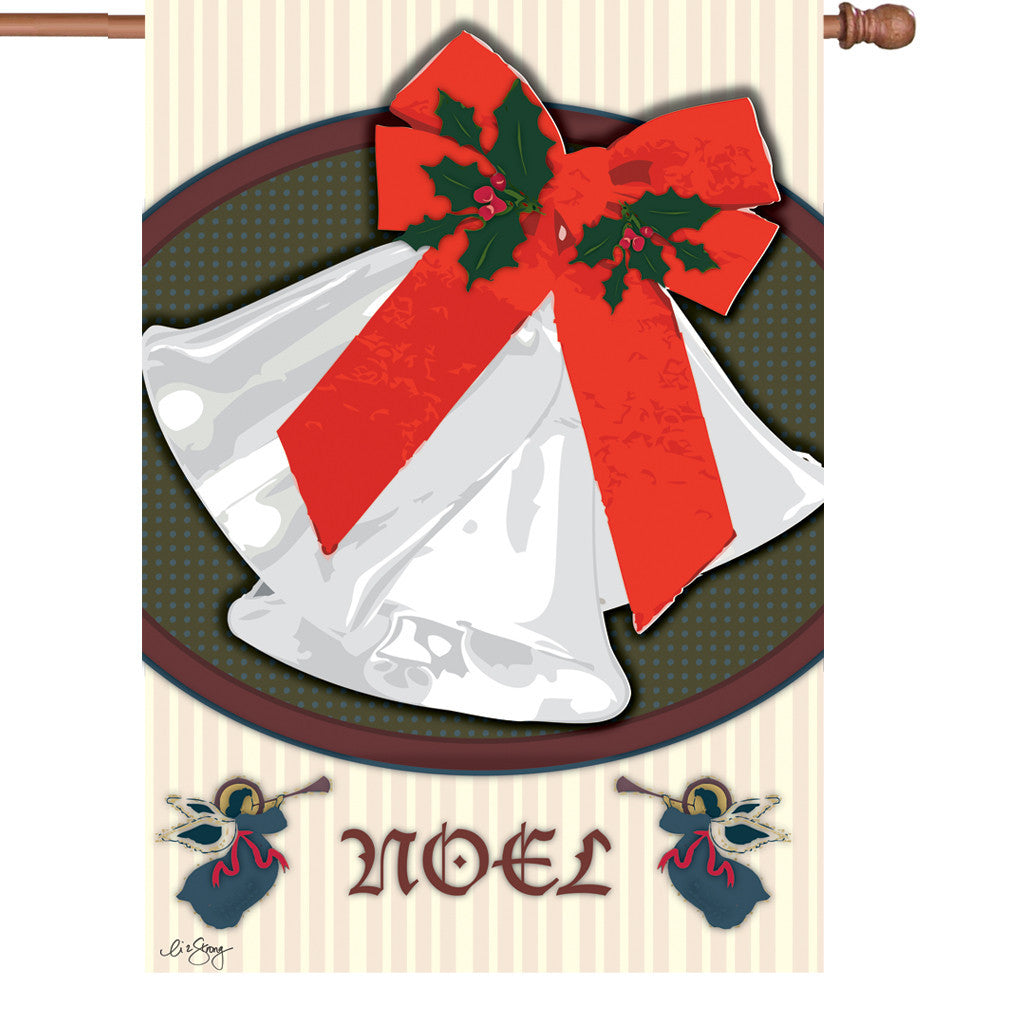 28 in. Christmas House Flag - Christmas Bells
