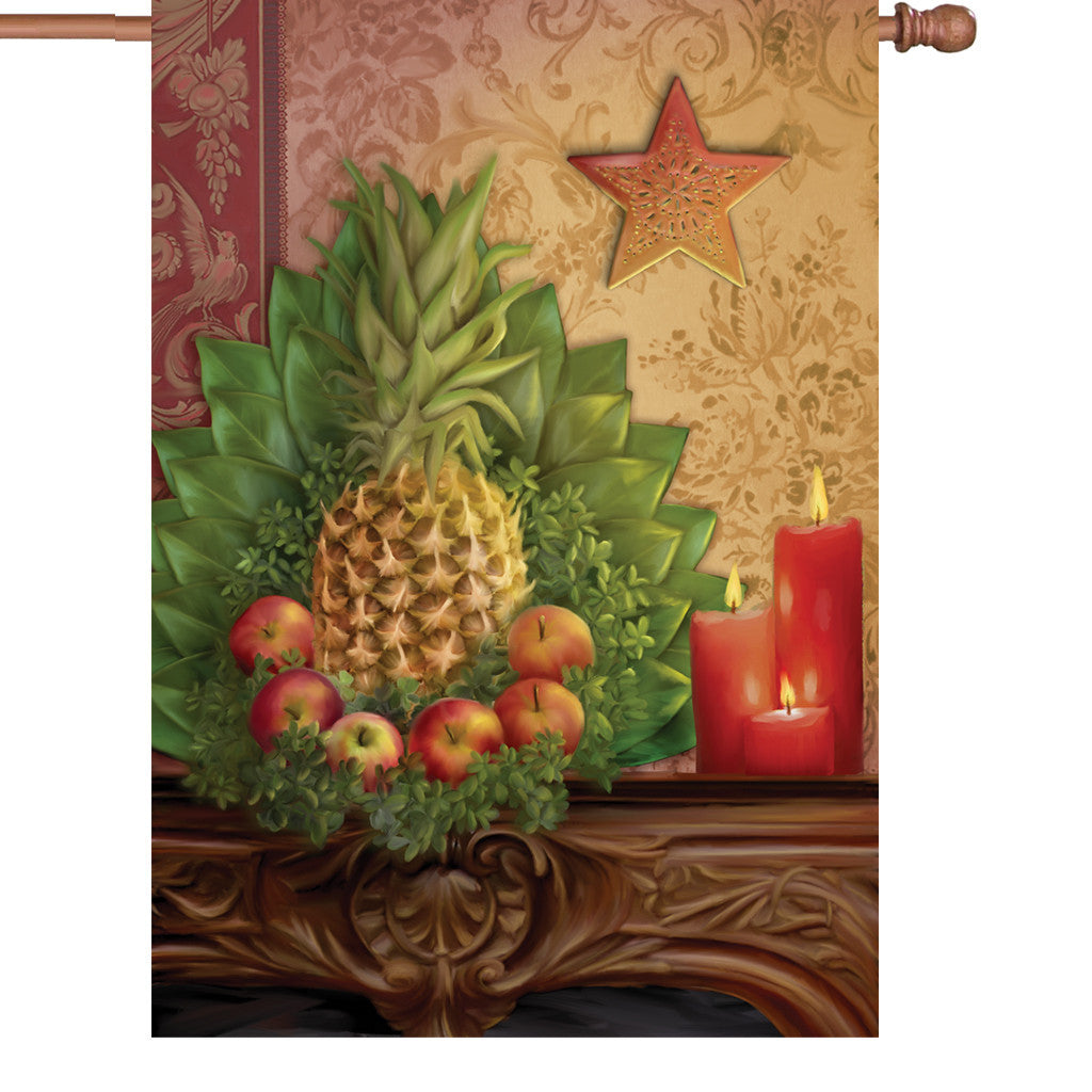 28 in. Autumn House Flag - Traditional Pineapple